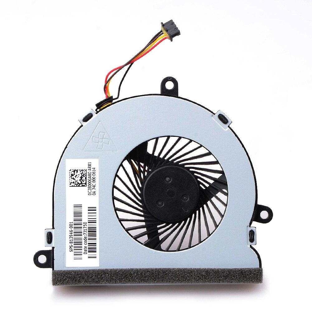 1 pces 4 pinos notebook computador cooler ventiladores laptops acessórios de substituição para hp 15-ac notebook ventiladores de refrigeração