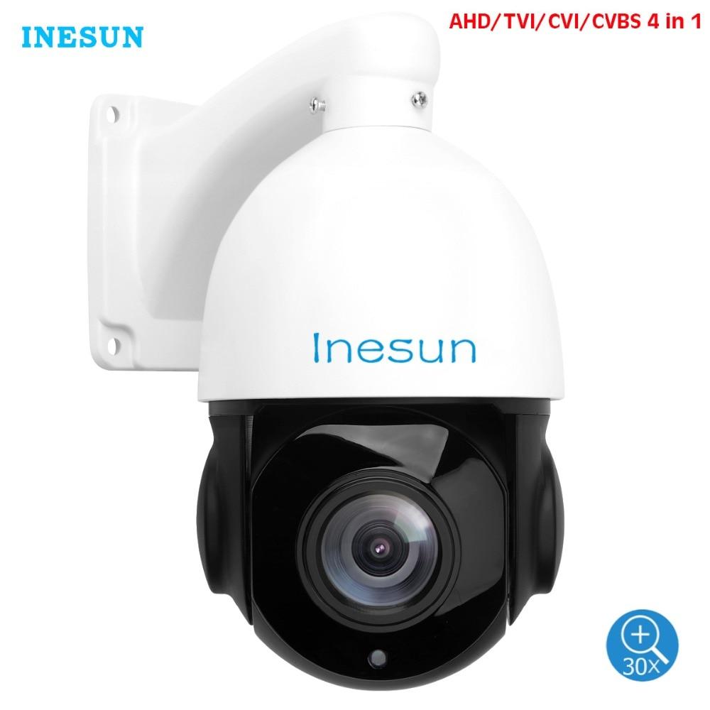 Inesun 2MP 5MP AHD PTZ камера безопасности 30X оптический зум 4-в-1 HDTVI/AHD/CVI/CVBS наружная камера видеонаблюдения Высокоскоростная купольная камера