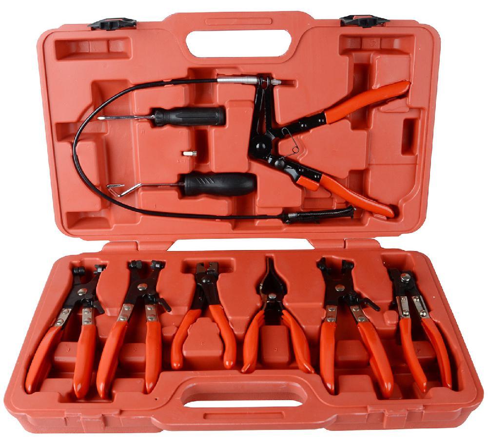 Braçadeira de mangueira clipe alicate conjunto giratória mandíbula plana angular banda automotivo ferramenta remoção braçadeira fivela herramientas para el auto
