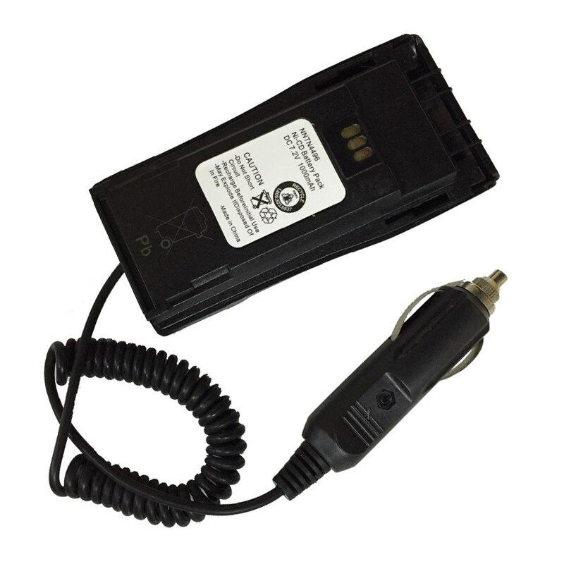 10 pçs eliminador de bateria rádio do carro + adaptador para motorola walkie talkie gp3188 gp3688 cp040 ep450 walkie talkie