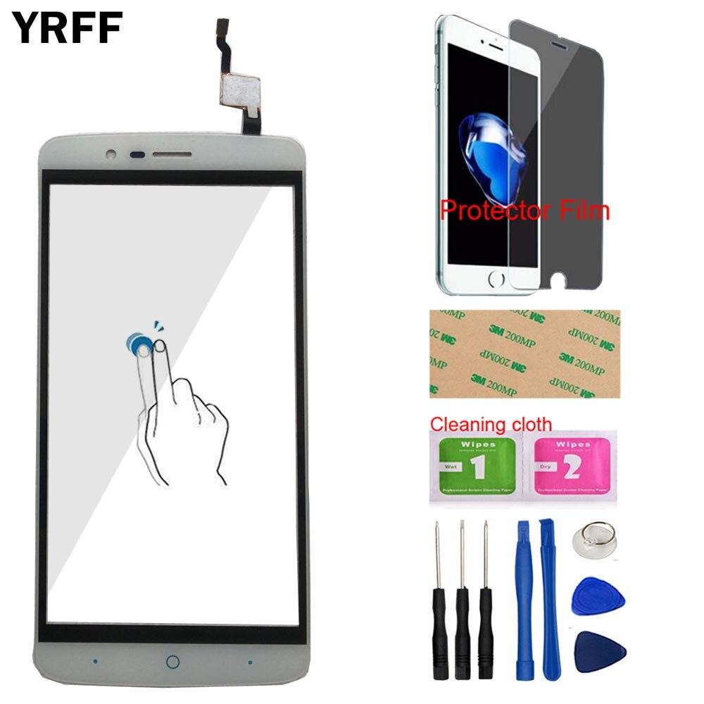 "YRFF 5,5 ""Sensor de lente de pantalla táctil móvil para Elephone P8000 Digitalizador de pantalla táctil herramientas de vidrio frontal película protectora"