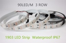 5 mt/los 3 Reihe 90led/m Led Streifen 1903 IC 5050 chip DC12V Digitale RGB Traum farbe IP67 Wasserdicht 5 mt/los 450leds bühne led