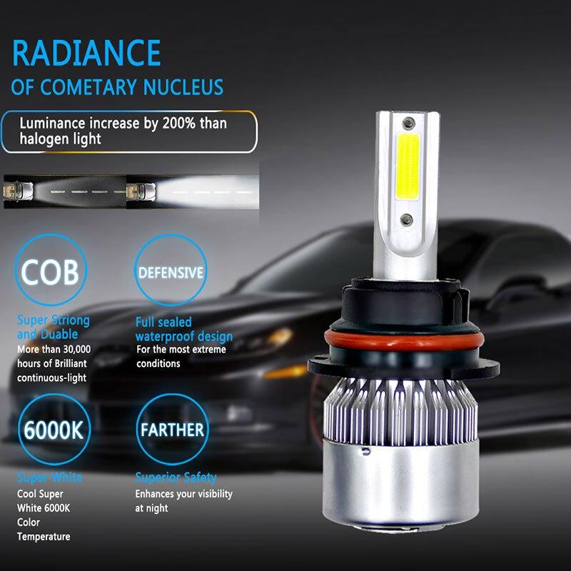 1 Uds LED faro Universal bombillas de coche 6000K/9007/HB5 H3 H8/H9/H11 H13/9008/9004/HB1/880/881/H27 frente lámpara LED Luz de niebla