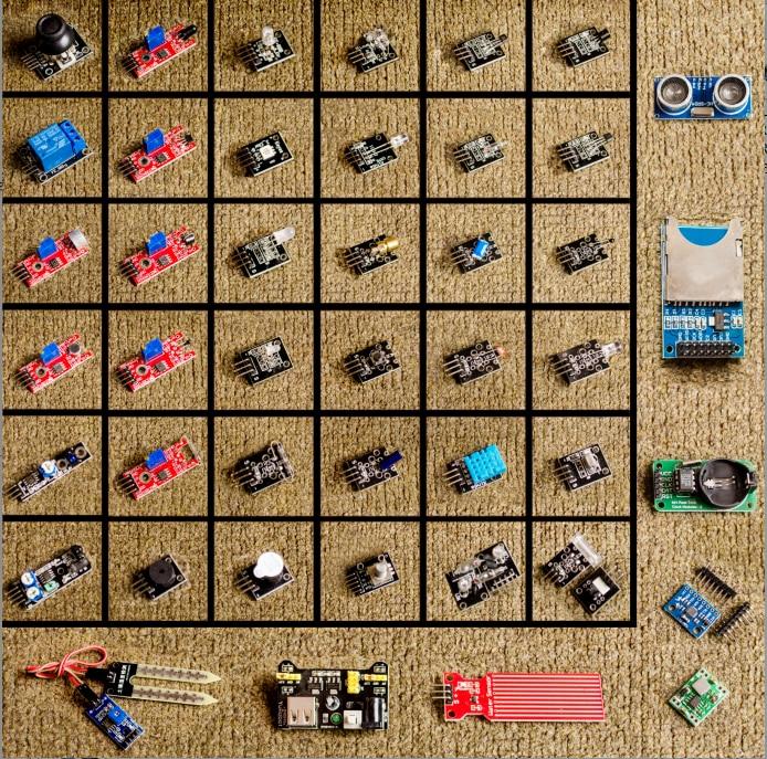 Módulo de sensores 45 en 1, Kit de iniciación para arduino, mejor que