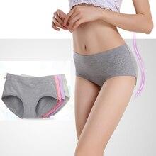 Le nouveau processus pur coton femmes culottes sous-vêtements taille moyenne sexy sous-vêtements en coton naturel slips