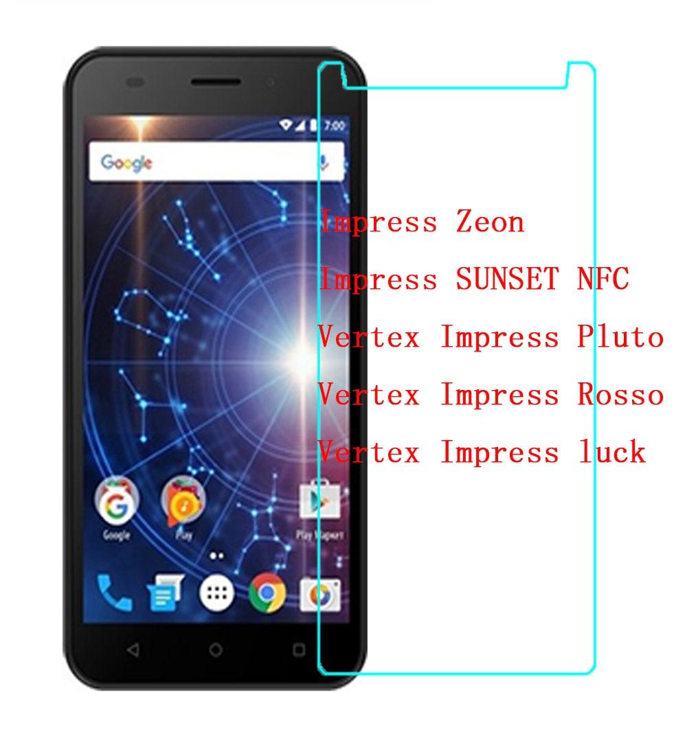 Vertex Impressionar Sorte/Rosso/Plutão DO SOL/NFC/Zeon Protetor de Tela De Vidro Temperado Ultra-fino Claro caso Capa protetora