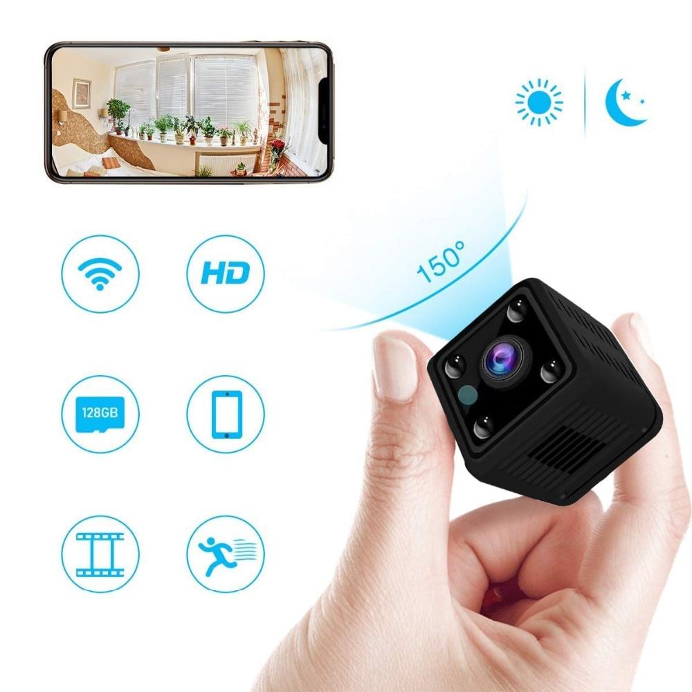 Mini cámara Wifi Kruiqi HD 1080P inalámbrica de seguridad para el hogar con Monitor de aplicación remota para teléfono móvil y cámara IP con batería integrada Playblack