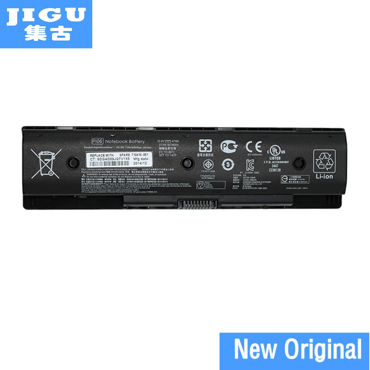 JIGU PI06XL PI09 PIO6 Q117 Оригинальный аккумулятор для ноутбука HP для зависти 14 15 17 для павильона 14 14t 14z 15 15t 15z 17t