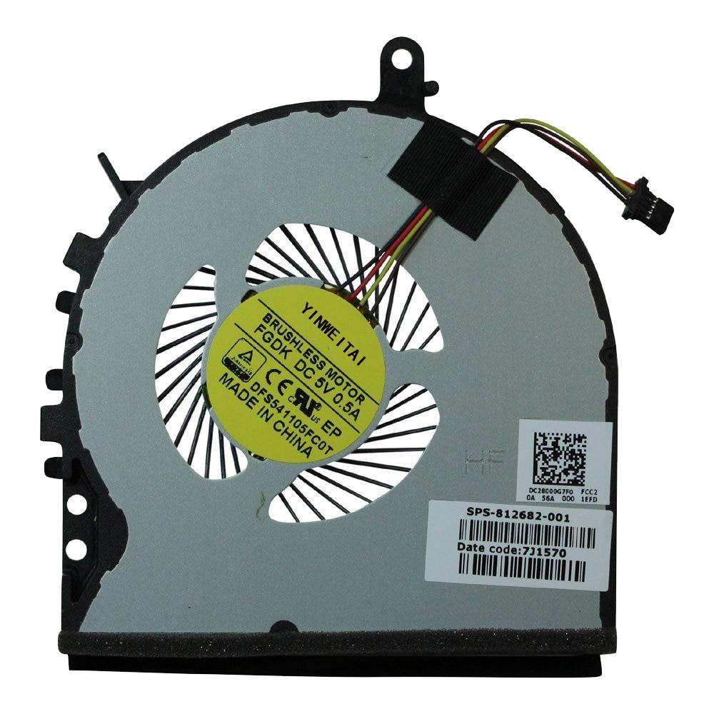 Ventilador para HP ENVY 15-AE 15-AE018TX AE021TX AE019TX 15-AE124TX 812682-001 DFS541105FC0T FGDK DC28000G7F0 EF75070S1-C390-S9A