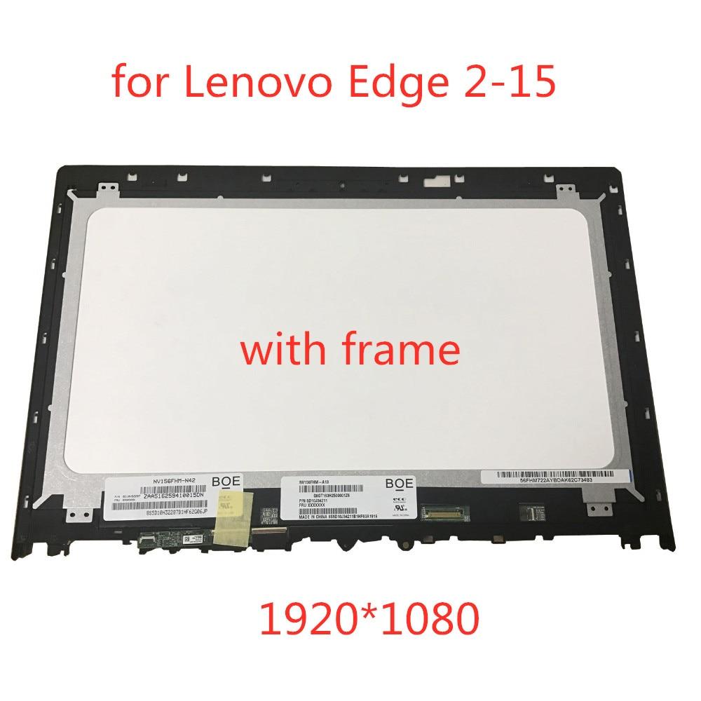 "Original NV156FHM-N42 NV156FHM-A13 para Lenovo Edge 2-1580 80QF 15,6 ""FHD 1080 P 1920*1080 LCD LED montaje de digitalizador de pantalla táctil"