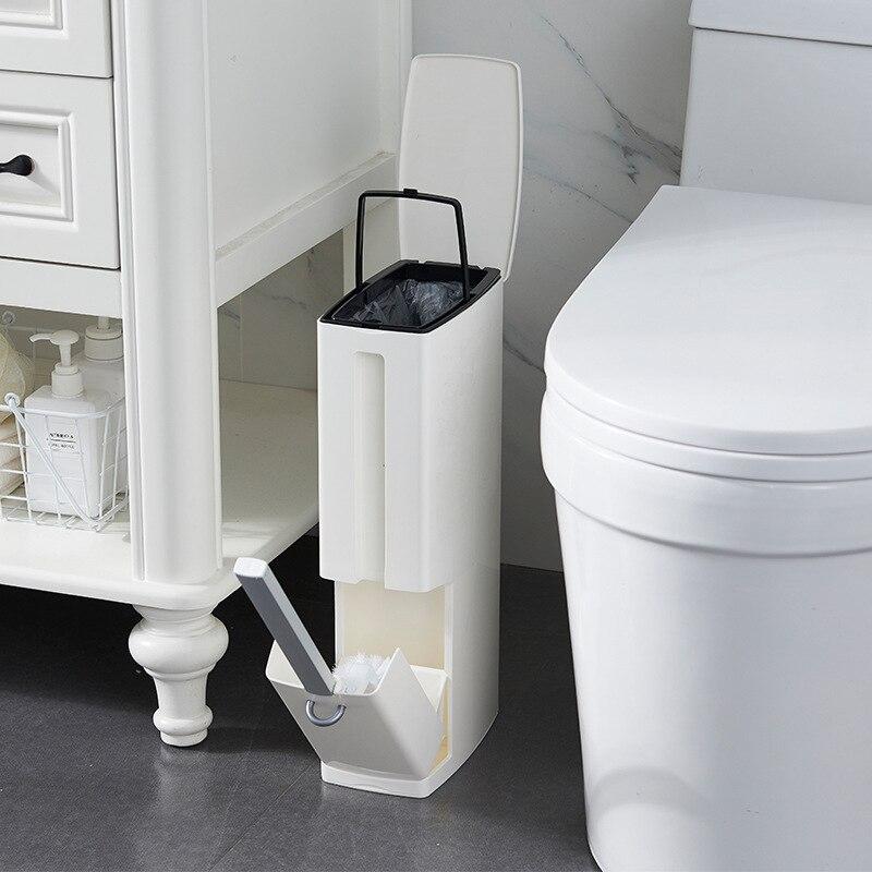 פלסטיק פח אשפה אסלת מברשת תכליתי פסולת סל שרותים פח אשפה אשפה סל אשפה דלי אמבטיה ניקוי כלים