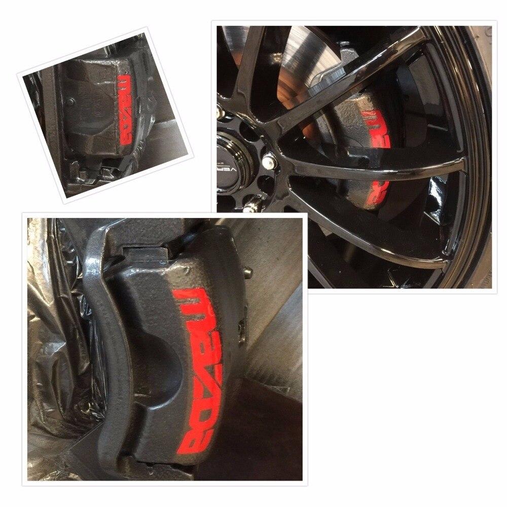 Juego de 8 piezas, pinza de freno Mazda 3 6 Cx5 Rx8 Miata, pegatina de vinilo, calcomanía, gráficos de logotipo