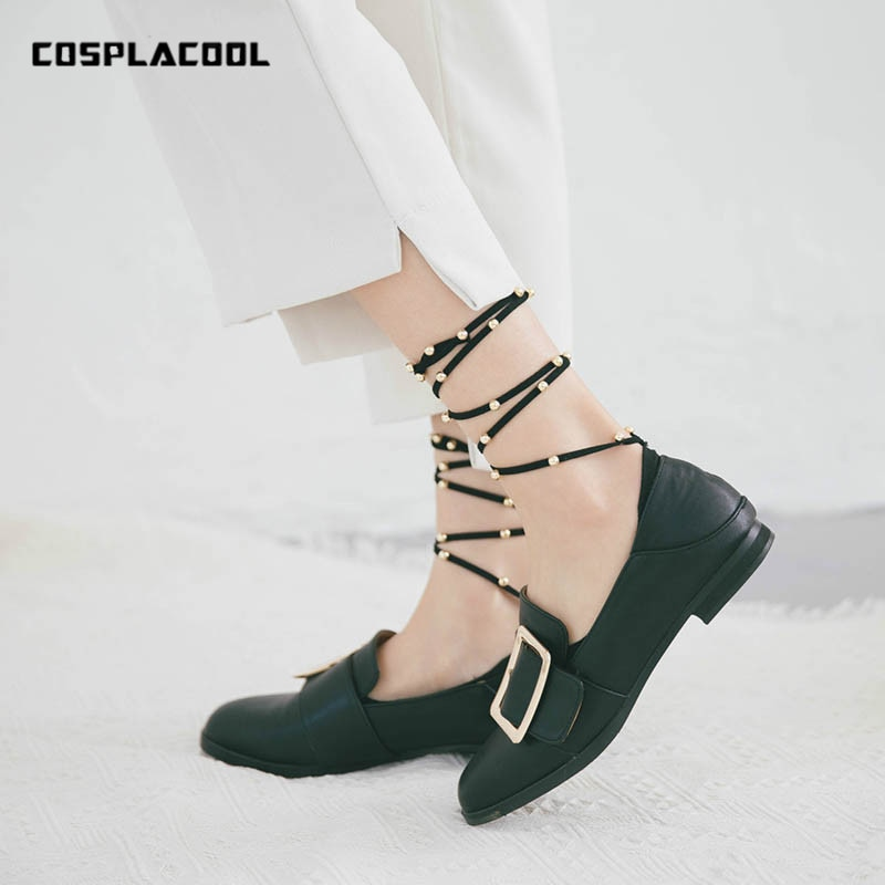 Cosmlacool-calcetines con cordones para mujer, medias suaves y cómodas, antideslizantes