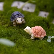 1PC bricolage Microlandschaft jaune MINI mignon décorations pour la maison jardin tortue noir Succulent Resion