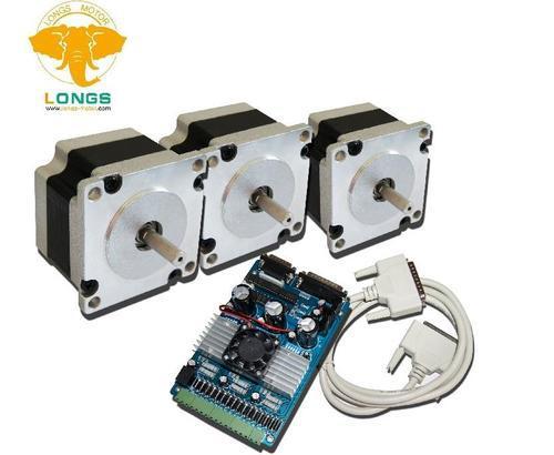 3 Axis Nema 23 stepper motor 287 oz.in 1.0A+stepper motor driver board controller TB6560 CNC Router NEW