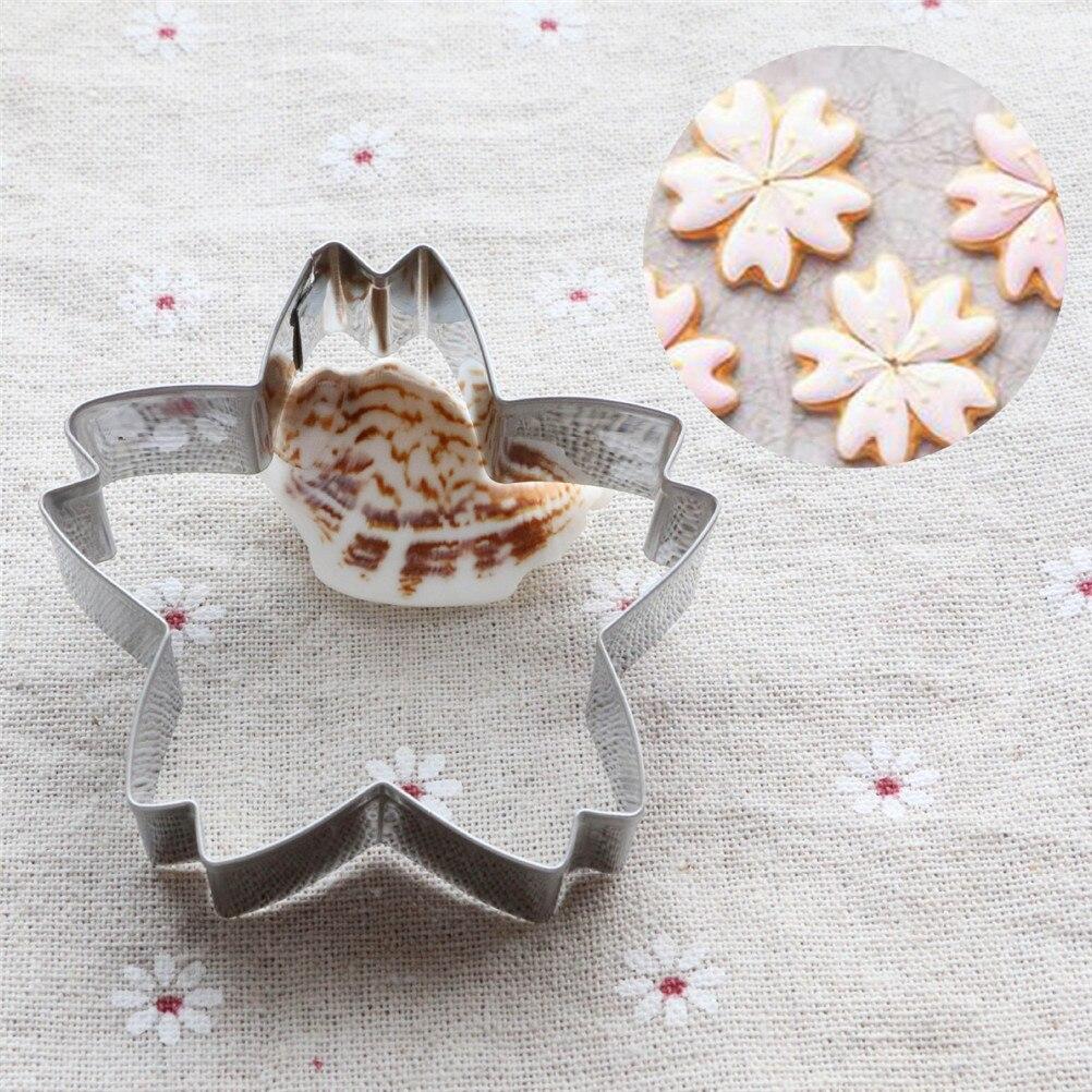 1PC de la serie flor Flor de Sakura para Fondant tortas galletas herramientas de decoración de 1PC flores de cerezo cortador de galletas para hacer flores
