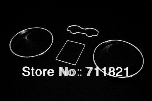 Juego de anillos cromados para el salpicadero de coches para VW Golf Jetta Bora MK4/Eurovan T4 (modelos de nariz larga 97-03)/Passat B5 (97-01)