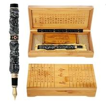 Di lusso di Alta Qualità JinHao Drago Penna Stilografica D'epoca Penne A Inchiostro per la Scrittura di Forniture Per Ufficio di Cancelleria Regalo caneta tinteiro
