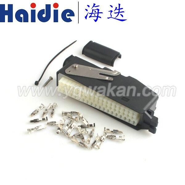 Envío gratis 1 Juego de conector de cable eléctrico 55pin ECU automóvil con terminales 368005-1 y 85251-1