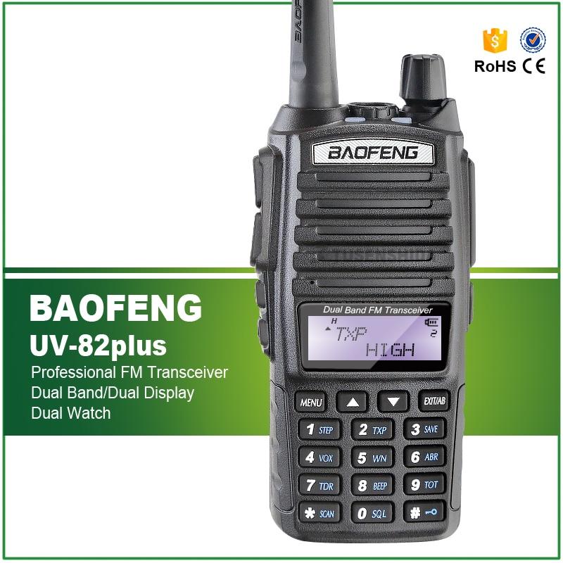 8W ماكس بعيدة المدى اتجاهين راديو ماسحة نقل الشرطة النار الانقاذ ثنائي الموجات هام اسلكية تخاطب UV-82plus