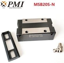 4pcs Original Taiwan PMI MSB20S MSB20S-N MSB20SSSFC N linear guideway slide block Carriage for CO2 laser machine CNC router