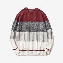 Hommes chandail automne printemps Patchwork chandail trois couleurs hommes pulls tricotés épais chaud décontracté chandails pull hommes