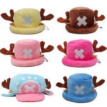 Anime ONE PIECE Cute Soft Warm Cap Cartoon Cosplay Tony Chopper Plush Winter Hat For Women Men Adult Child