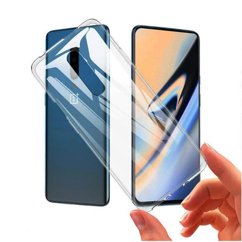 Funda de silicona SUREHIN para ONEPLUS 6 6T 7 pro 5 5T, carcasa transparente de tpu, carcasa transparente mate transparente para ONE PLUS 6 6T