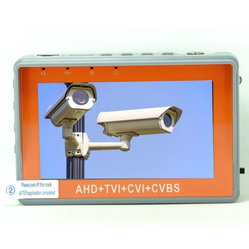 New Version 4.3 Inch Coaxial HD Camera Tester IV7W 5MP AHD TVI CVI CVBS CCTV Camera Tester Monitor with UTP PTZ Audio test
