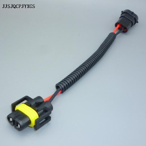 JJSJQCPJYXGS H8 H9 H11 arnés de cableado enchufe conector de cable para HID LED Foglight bombilla para faro delantero