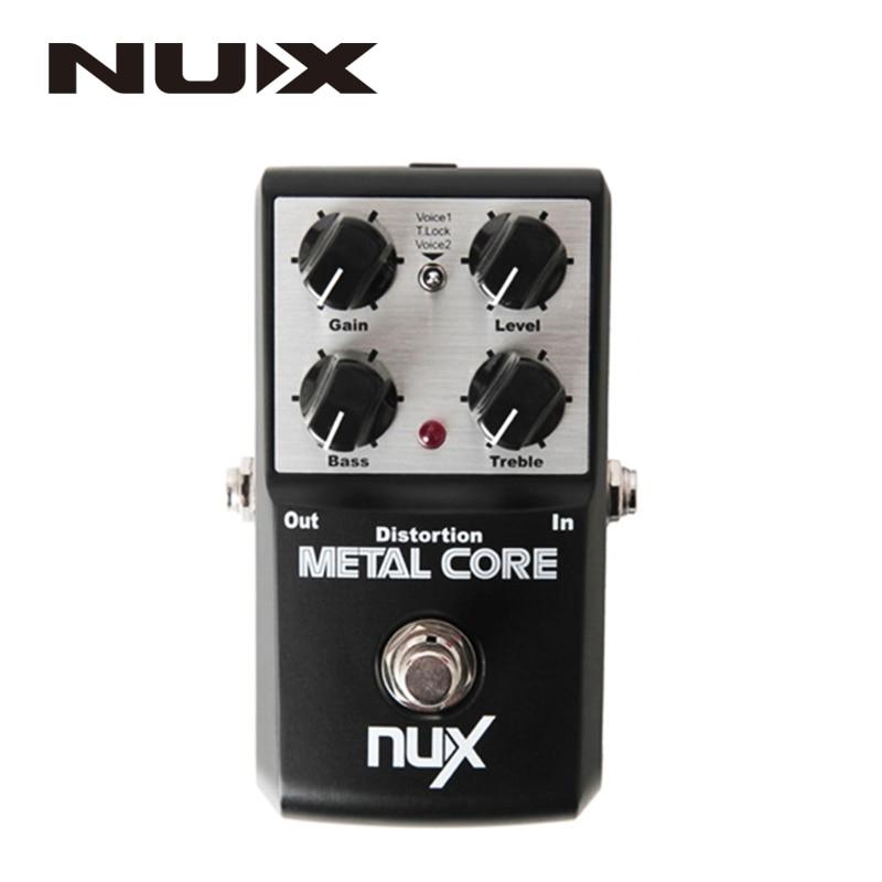 NUX Metal Core Verzerrung Effekt Pedal True Bypass Gitarre Effekte Pedal 2-Band EQ Ton Lock Preset Funktion