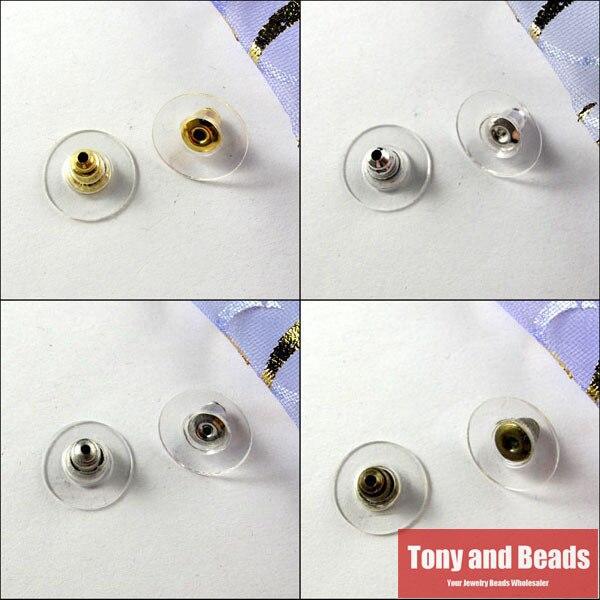 (200 peças = 1 lote!) brincos de joias com envio gratuito, brincos de plástico e cobre para trás/brinco/bucha de brinco