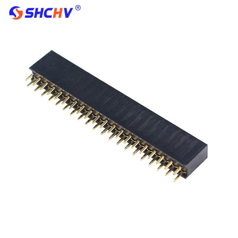 Raspberry Pi zéro W 20 broches Double rangée broche droite en-tête bande PCB connecteur pour
