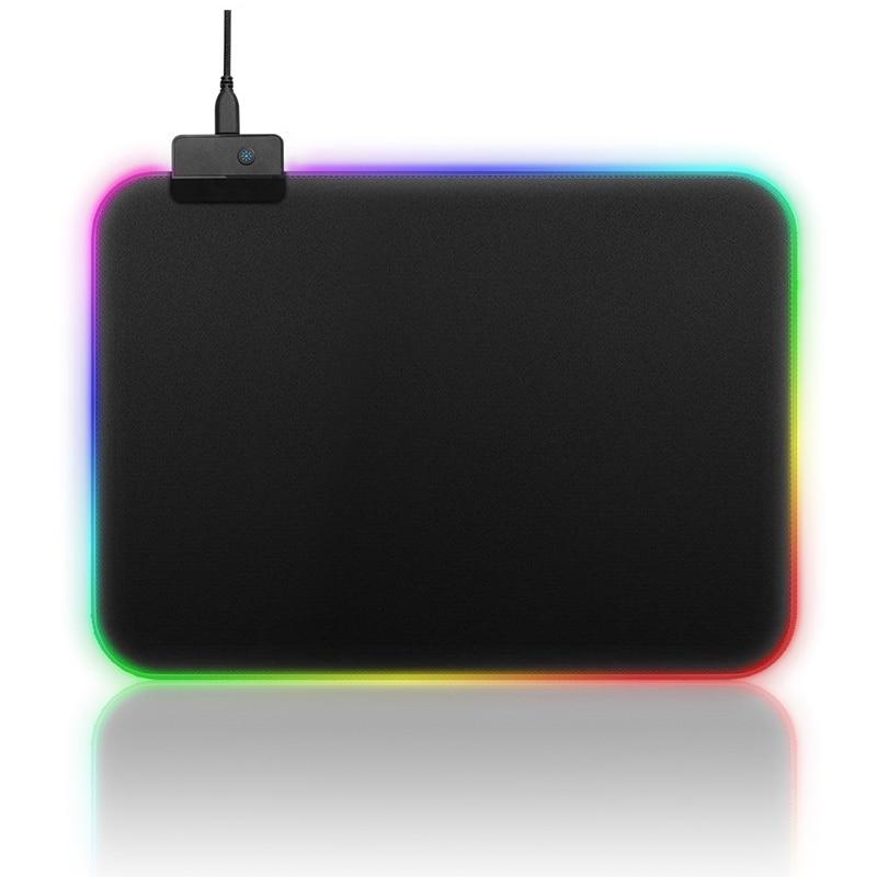 Chegada nova RGB Mouse Pad Gaming Mouse Pad USB Com Fio LED RGB Colorido Mouse Pad Mousepad Gamer Teclado de Computador Mousepad almofadas