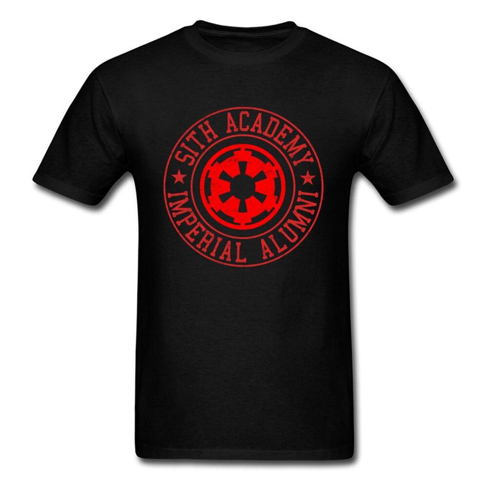 Sith Academy T Shirt Star Wars T-shirt Men Black Red Tshirt Short Sleeve Clothing Cotton Tops Hip Hop Tees Letter Printed