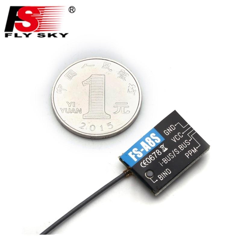 Más Flysky FS-A8S FS A8S 2,4G PPM-Autobús SBUS 8CH Mini receptor para Rc Quadcopter FS-I6X FS-i4 FS-i6 FS-i6S transmisor
