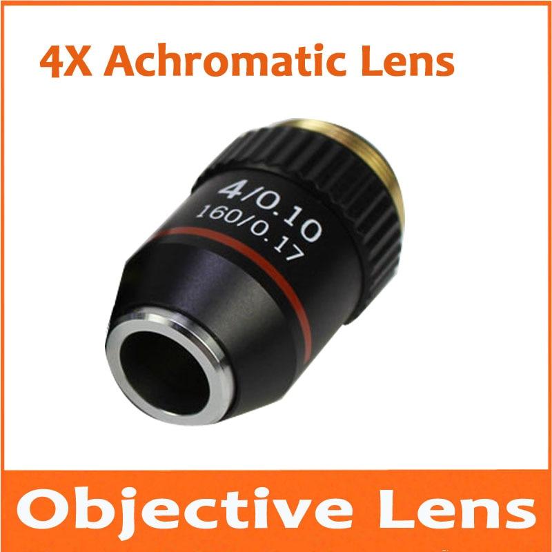 4X Metal 195 Biomicroscope System Achromatic Bio-Microscope Biological Microscope 4 Times Objective Lens for Lab Laboratory