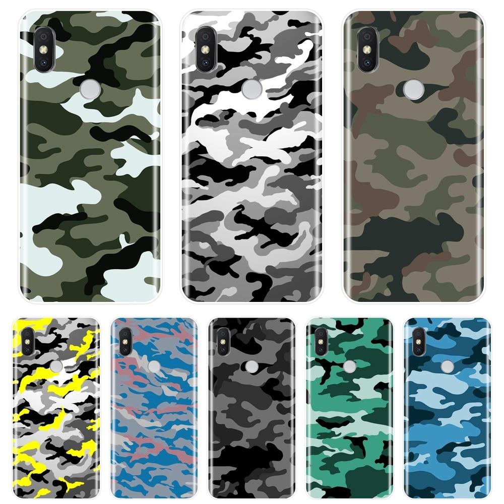 Phone Case Silicone For Pocophone F1 Xiaomi Redmi Note 6 Pro 5A Prime 5 4 4X Military Soft Back Cover For Redmi S2 6A 5 Plus 4A