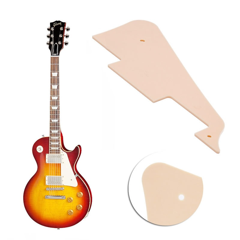 Beige Mirror Plate Guitar Pickguard Scratch Plate for Les Paul Guitar