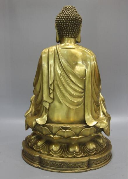 Tibetischen Buddhismus Messing Kupfer Tempel Sitz Rulai Tathagata Buddha Statue