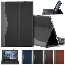 Housse de tablette pour ordinateur portable avec porte-stylo pour Lenovo Miix 510 (Miix5)/510 12.2 pouces housse de protection en cuir PU