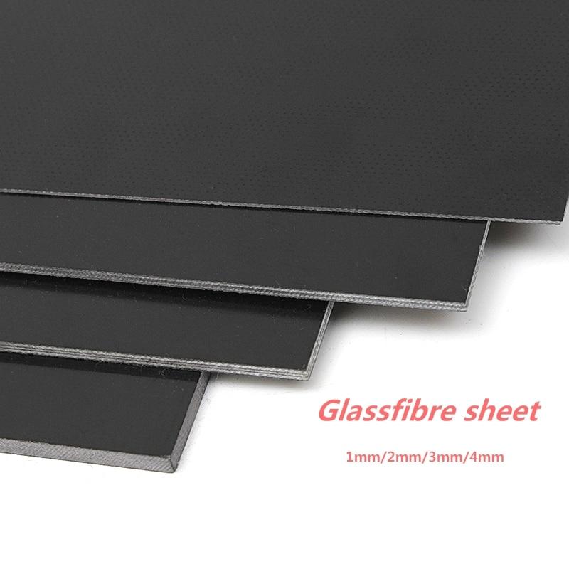 Plantilla de fibra de vidrio negro hoja de fibra de vidrio epoxi G10 FR4 Placa de fibra de vidrio para DIY cuchillo mango manualidades suministros 300x170mm