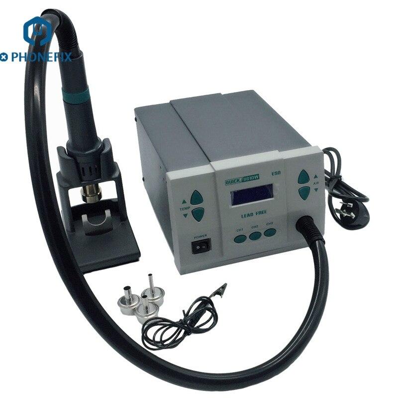 Быстрая 861DW 110v 220v станция для переработы горячим воздухом быстрая точка 861DW материнская плата, инструмент для ремонта пайка для ремонта моби...