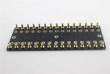 DIY Projekte Audio Tag Streifen Tag Bord Revolver Bord Kupfer Vergoldung Test Platine 150*60*2mm 75 löcher 1 Stück Kostenloser Versand
