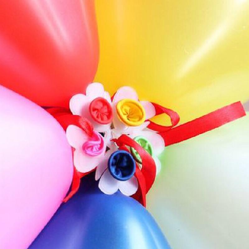 Clip de sello para globos de 6,5 cm, Clips de sellado prácticos con forma de flor de ciruela, accesorios de pinza para globos, decoración para fiestas y bodas