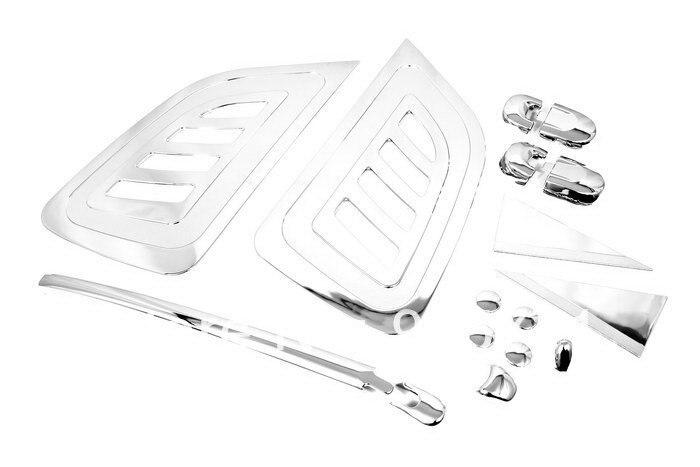 Chrome Rear Wiper Window Pillar Trim Kit for Hyundai Tucson