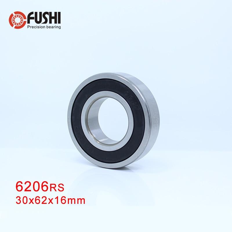6206RS подшипник ABEC-3 (1 шт.) 30x62x16 мм Глубокий паз 6206-2RS шарикоподшипники 6206RZ 180206 RZ RS 6206 2RS EMQ качество