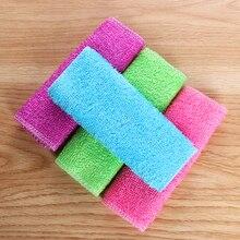 1PC Magie Bambus Faser Anti-fett Dish Tuch Waschen Handtuch Küche Haushalt Scheuer Pad Reinigung Lumpen Zubehör für hause
