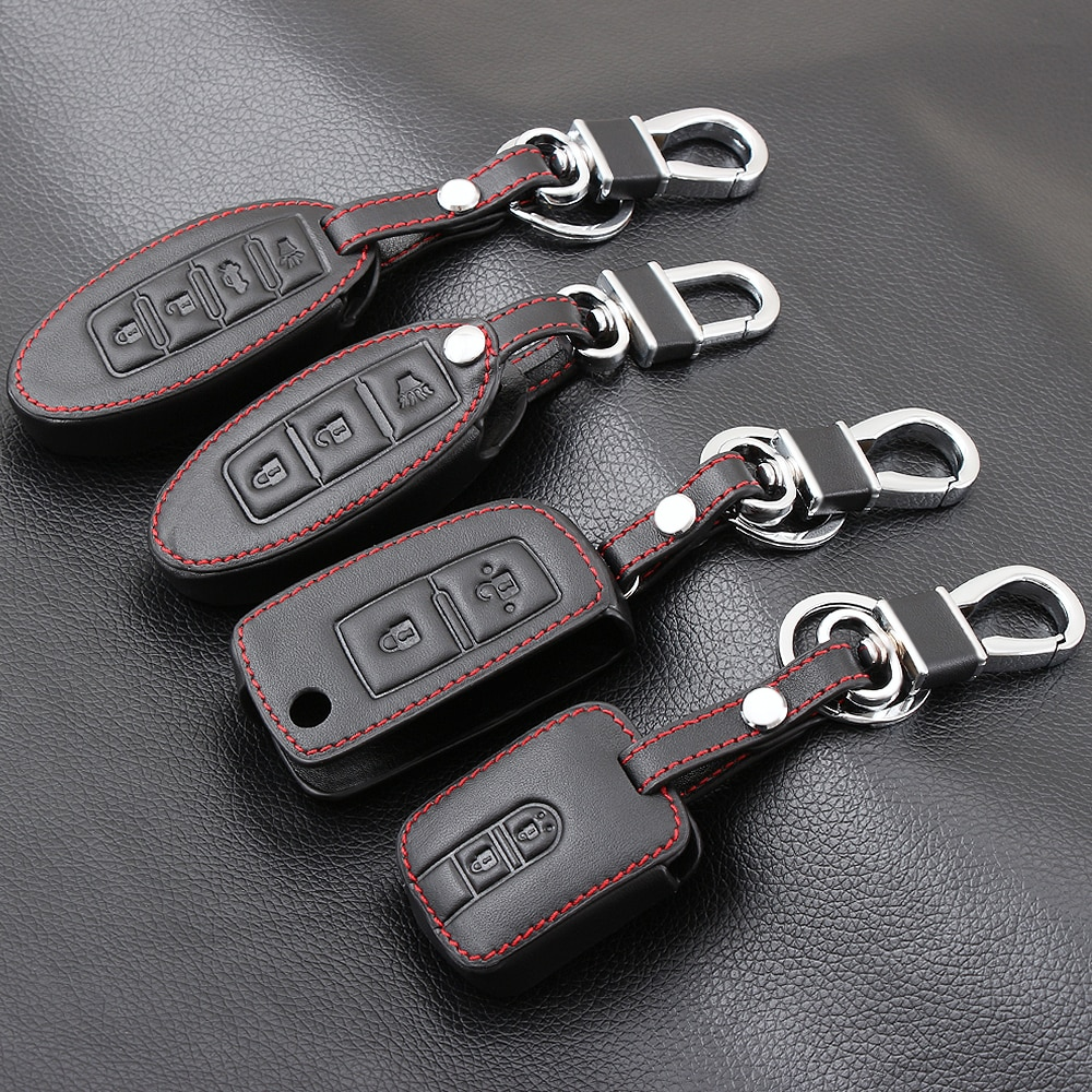 Funda de cuero para llave de coche para Nissan Teana x-trail Qashqai J10 Livina Sylphy Tiida Sunny March Murano Geniss Juke Almera Navara Note