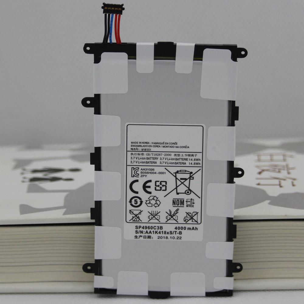 10 pçs/lote 4000mah sp4960c3b bateria embutida batterie para samsung galaxy tab 2 7.0 & 7.0 plus GT-P3100 p3100 p3110 p6200